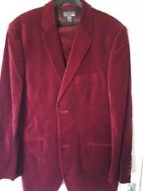 Red Velvet Blazer/Jacket Mens For Sale