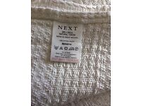 NEXT - 100£ COTTON - EXTRA LARGE - NATURAL THROW SIZE 200 X 250 CM