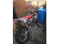 Crf 450 2008 road legal swap for van