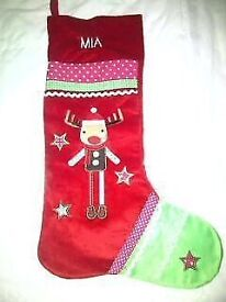Mothercare Musical Christmas Stocking with MIA on (brand new from Mothercare) £5