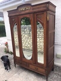 Beautiful Wardrobe, solid wood, comes apart for easy moving.