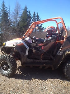 2013 Polaris RZR 800 S & 2 Axle Trailer Combo