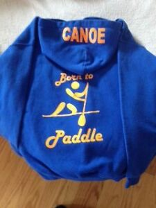 Youth Large Hoodie Paddle Canoe Theme