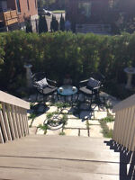 Patio - Bistro set, 2 chairs and table in excellent condition.