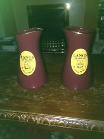 X2 Brown Pottery Jugs