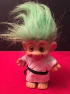 Vintage Forest IMM Troll Judo Karate outfit Lime Green Hair