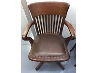 Antique tilt and swivel Captains Chair