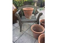 VERY LARGE TERRACOTTA GARDEN POTS