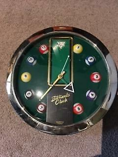 Billiard Ball Wall Clock-Take it Straight to the Pool Room!