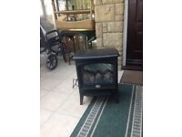 Electric wood stove replica for sale