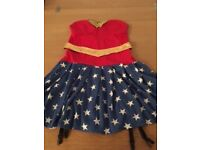 LADIES FANCY DRESS COSTUME WONDER WOMEN, WORN ONCE EXCELLENT CONDITION