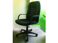 black swivel chair adjustable height-
