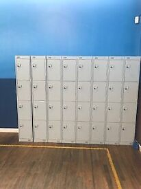 32 door lockers available with refundalbe £1 slots