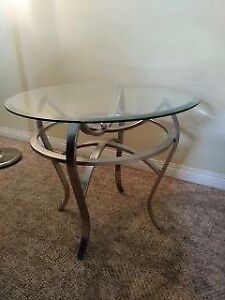 Glass Coffee & End Tables - Perfect Condition