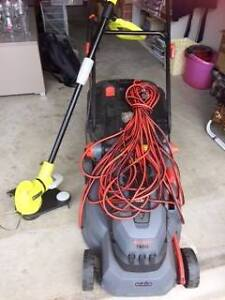 EXCELLENT ELECTRIC Mower Ozito & BONUS Ryobi Line Trimmer Rothwell Redcliffe Area Preview