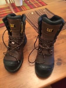 "Men's Work Boots - CAT Excavator XL 8"" Composite Toe Size 8.5"