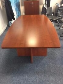 Dark Wood Boardroom Table and 2 x Executive Desks for sale