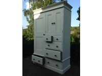 Hand crafted Shabby chic bedroom wardrobe.