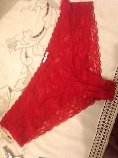 New red lace knickers