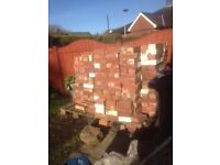 Reclaimed 1930,s red bricks for sale