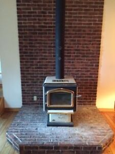Wood stove and chimney