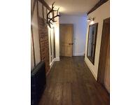 Engineered wood flooring dark distressed oak