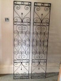 2 Wrought Iron Door Inserts