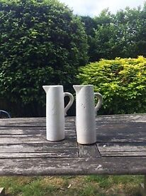 White Ceramic Tall Jug/ Vase