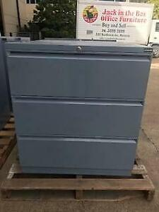 LATERAL FILING CABINET office storage drawers metal file 3 drawer