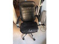 Black Leather (Computer / Desk) Chair