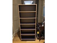 IKEA bookcase, purple. Adjustable shelves. Fantastic for a child's room