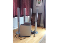 Panasonic speakers x 4 with home theatre sub-woofer