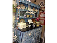 large rustic pretty solid oak dresser[£80 if collected asap]