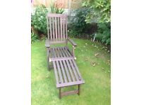 Hardwood steamer chair good condition as can be seen in photograph