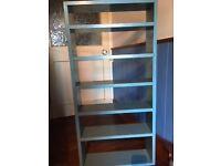 Blue Painted Shelves/Unit