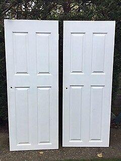 Internal White Panel Doors X 2 FOR SALE