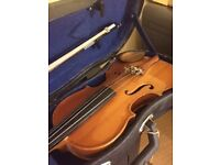 VIOLIN 3/4 SIZE WITH CASE AND BOW