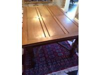 Antique English Oak Dining Table decorative substantial Barley Twist Legs