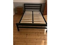 metal double bed for sale - nearly new