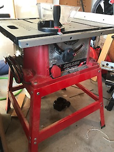 Table saw, Router, Router table, press drill