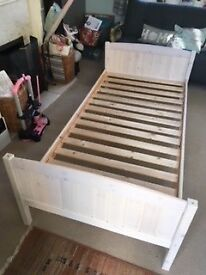 Single Bed Frame - White Pine