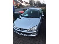 Silver Peugeot 206 car! Only 46,000 miles.