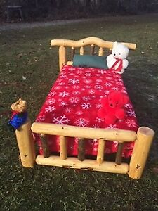 Log Toddler Bed