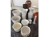 BARGAIN - Various VASES and PLANT POTS - lot price