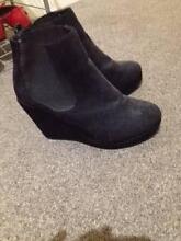 Suede Black Boots/wedges Carlton Melbourne City Preview