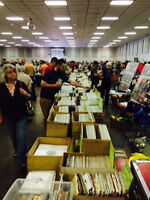 Huge vinyl record sale Sunday LPs-45s