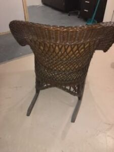 over 100 yrs old wicker chair London Ontario image 3