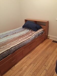 Avail. May 15.  Room on the main floor of a house.