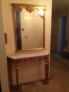 Beautiful Marble Table with Mirror