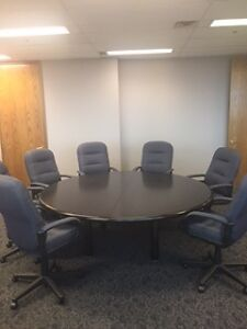 "MEETING, DINING or OFFICE! FABULOUS ROUND TABLE 80"" - HARDWOOD"